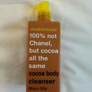 BN 100% Not CHANEL but COCOa all the same - Cocoa Body Cleanser by Anatomicals UK