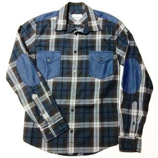 Zara Blue Checkered Long Sleeve Shirt