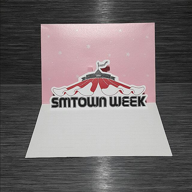 Girls Generation SNSD SMTown Week Concert Official Merchandise - Message Card (EXTREMELY RARE!)