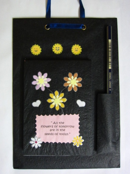 Handmade note pad for desk or wall