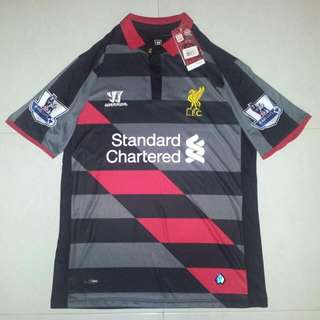 (Reserved!) Brand New Liverpool Third Kit 14-15 With BPL Patch