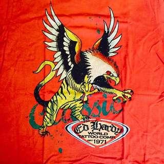 全新ED Hardy Tshirt  經典logo水鑽 M號