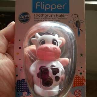 Brand New Flipper Toothbrush Holder - Cow (Anti Bacterial)