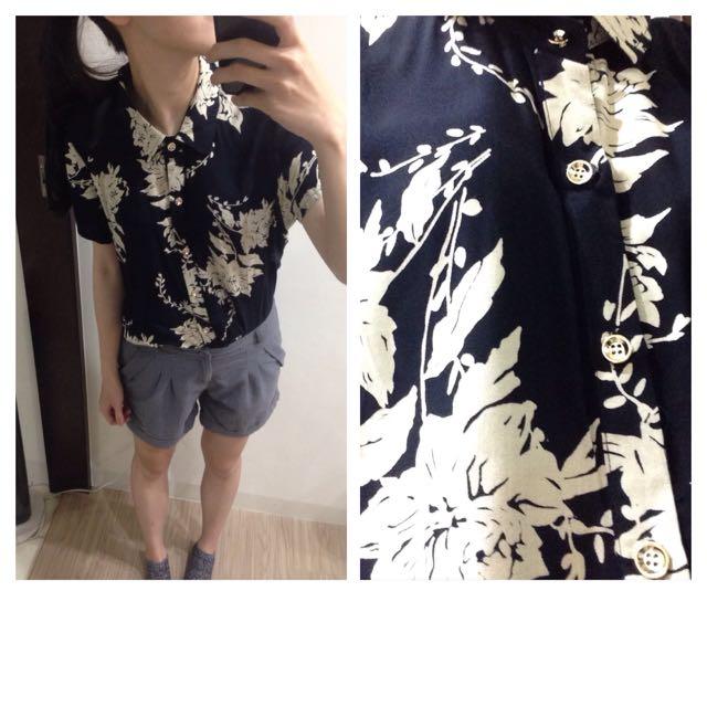 韓流寬鬆印花襯衫