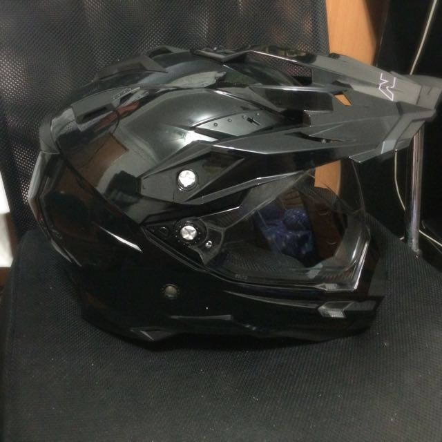 9f455f7c AFX FX-41 (L) DS helmet with inner sun visor, Cars on Carousell