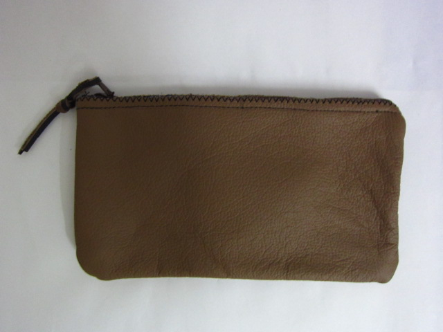 Brown Leather Pencil Case (Handmade)