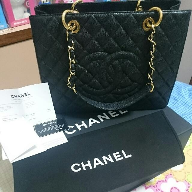 0f8076f7be1323 Chanel Grand Shopping Tote GST In Black Caviar GHW, Luxury on Carousell