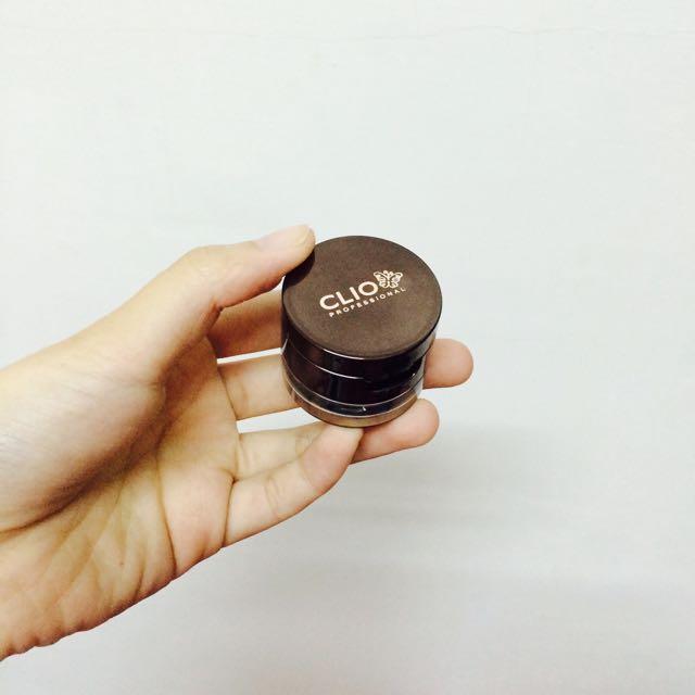 韓國CLIO 珂莉奧 眼線膠與眉粉盒 01黑眼膠/棕眉粉