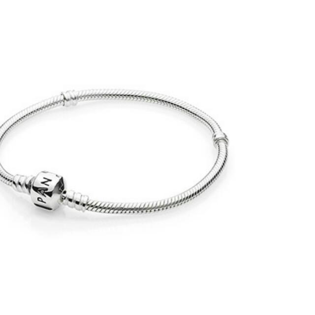 Pandora Silver Bracelet, Size 17/18