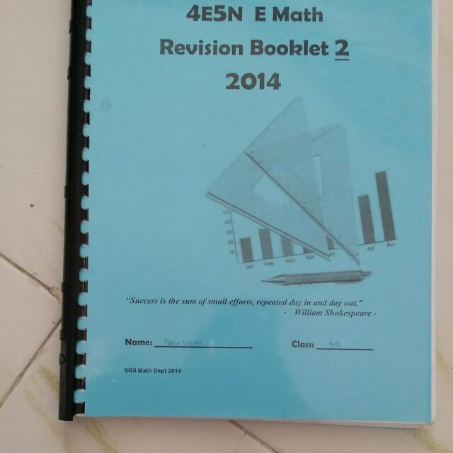 Very Useful O LEVEL MATHS NOTES AND PRACTICE Booklet 2, Books ...