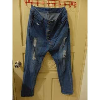 二手 排釦牛仔褲
