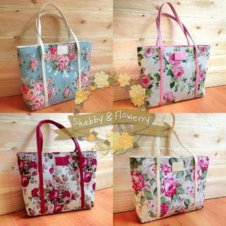 Catherine Floral Shabby Tote Bags
