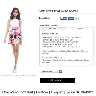 MDS OMBRE FLORAL DRESS