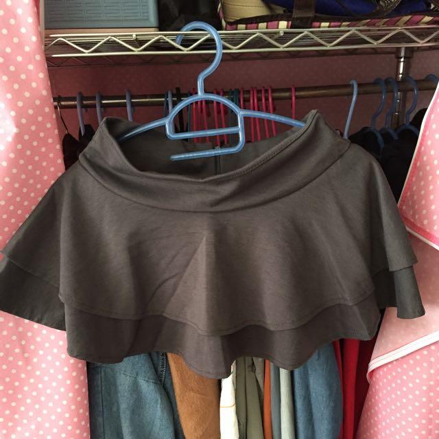 全新 灰色 褲裙