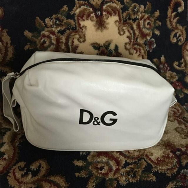 D&G 限量贈品 白色 超美化妝包 洗漱包 收納包 隨身小包