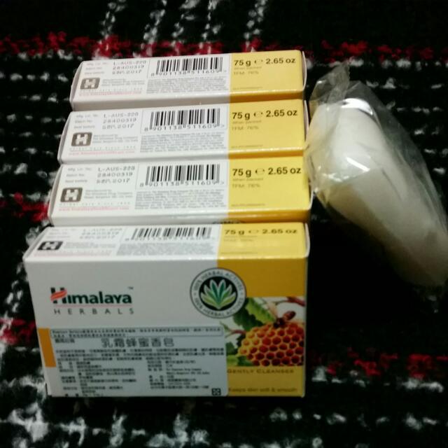 全新Herbals乳霜蜂蜜香皂*4