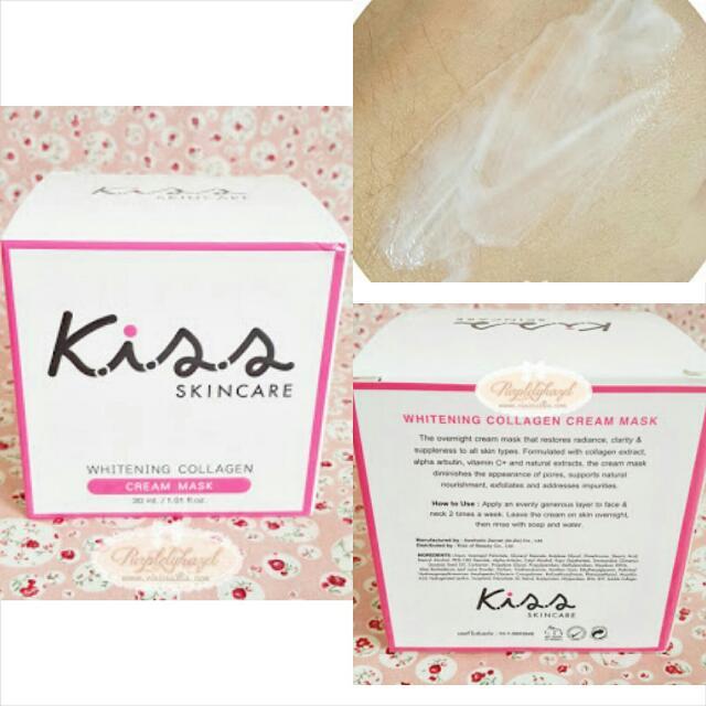 Kiss whitening collagen cream mask