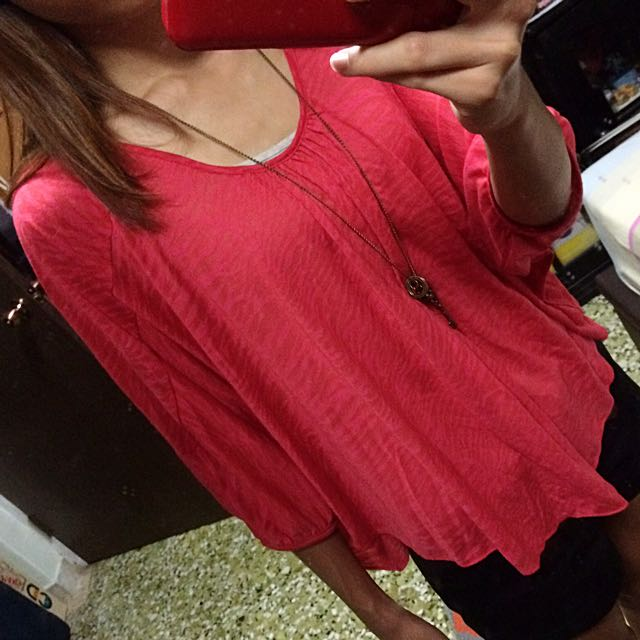 Red Color Top
