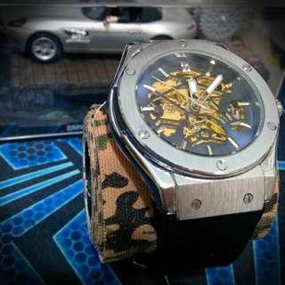 Luxury Skeleton Mechanical Automatic Watch (hublot Homage)