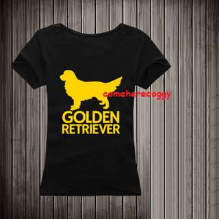 Golden Retriever Dog silhouette T-shirt (both male and female sizes available!)