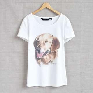 Golden Retriever watercolour T-shirt (good quality!)