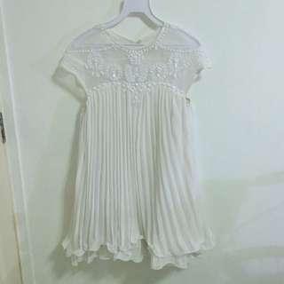 White Embellished Babydoll Dress