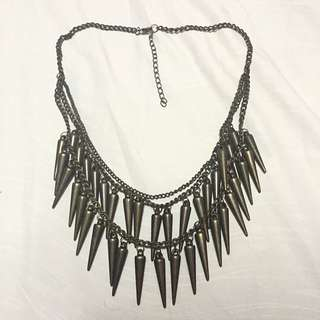 Double Strand Spikey Necklace