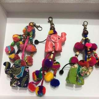 峇里島大象鑰匙圈