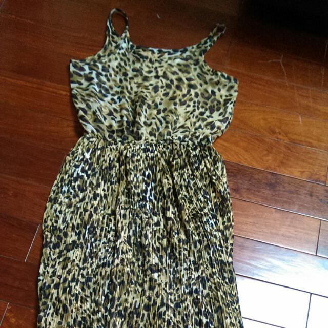 個性豹紋連身裙