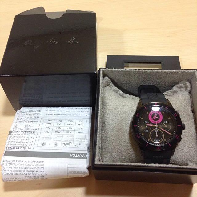 Anges b Sport b 防水橡膠手錶粉色(保証正貨)
