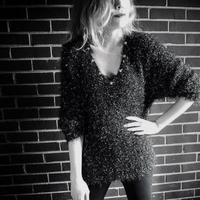 Black Glitter Sweatshirt