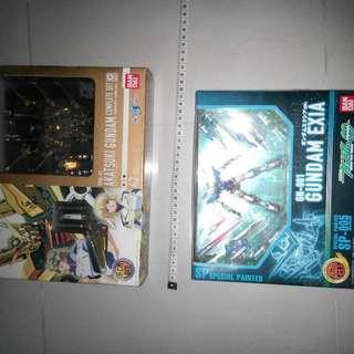 Bandai - Gundam Exia Special Painted HCMPro SP-005 And HCM Pro ORB-01 Akatsuki Gundam Complete Set.