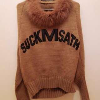 超保暖卡其毛領衣