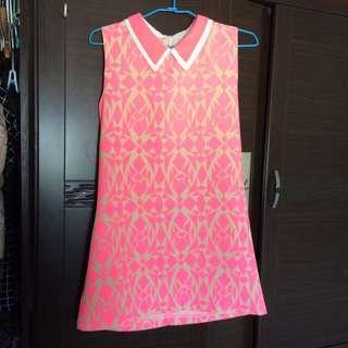 全新 螢光粉洋裝