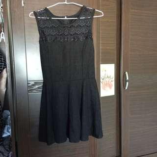 全新 蕾絲黑色小洋裝
