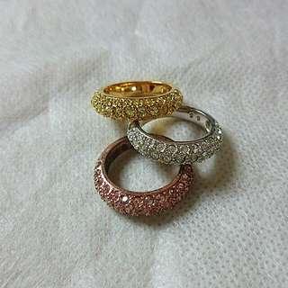 三環加鑽戒指