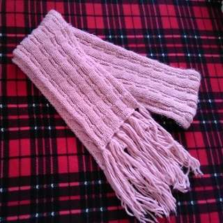 全新 冬季圍巾(粉色)