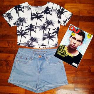 AA Inspired Palm Trees Crop Top