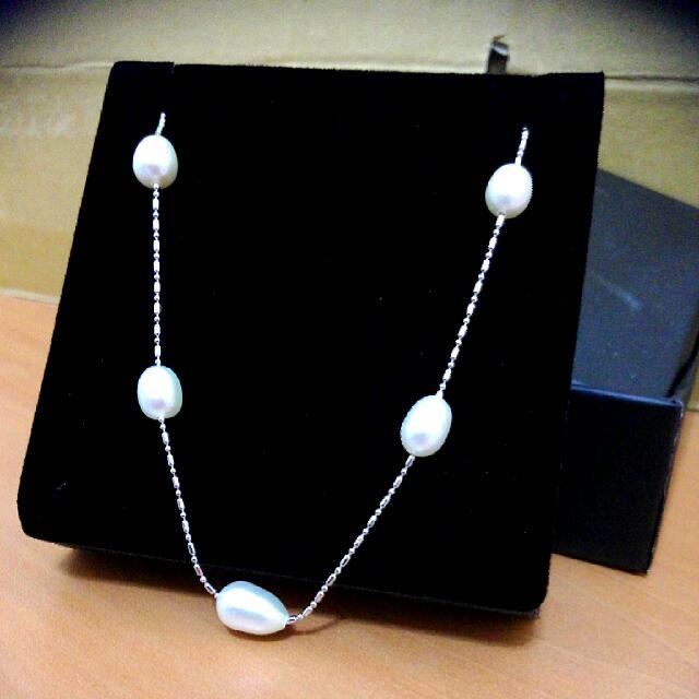 珍珠短脖鍊