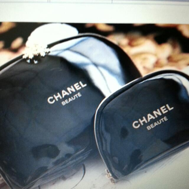 Authentic Chanel Make Up Pouch