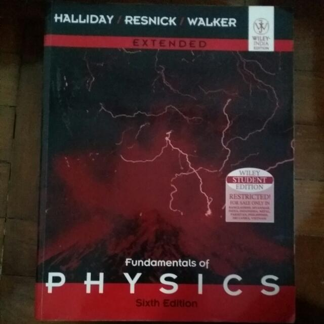 Fundamentals of physics 6th edition halliday, resnick, walker.