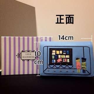 🚚 LULU GUINNESS 皮夾(淺藍)