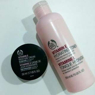 Used Body Shop Moisturiser & Toner