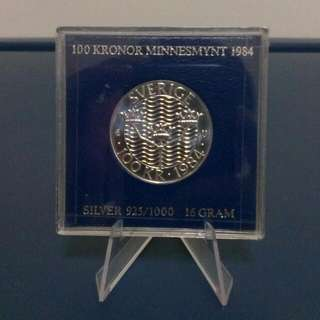 1984 Sweden Commemorative Silver Coin