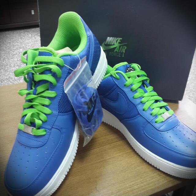全新Air  force1藍色小精靈 限量款 黃金size 10.5