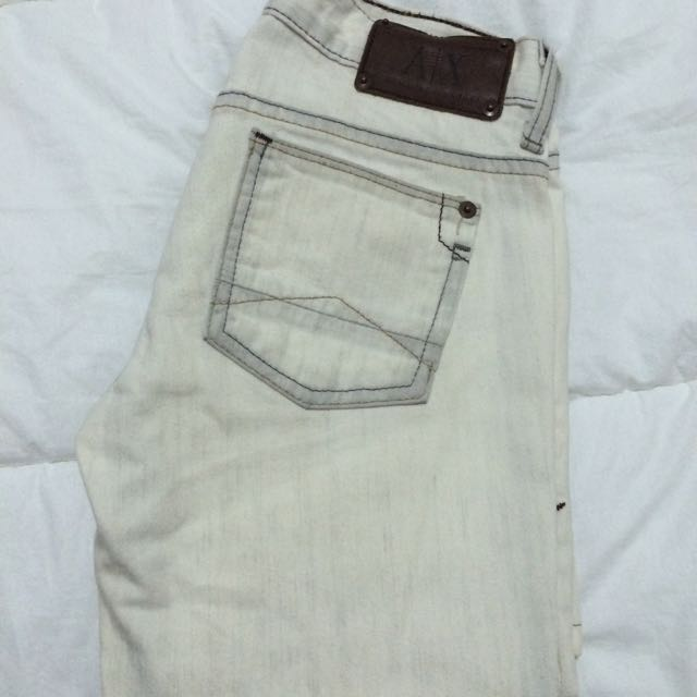 Armani/Exchange Off White Jeans