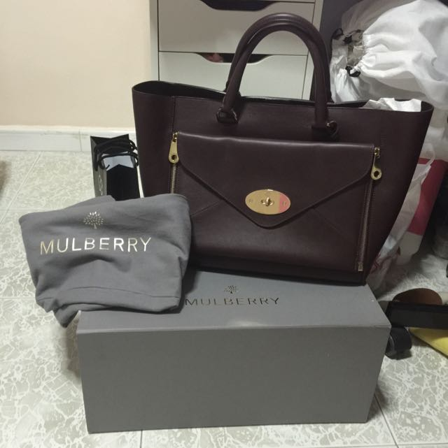 f8918c41ed Mulberry Willow Tote In Oxblood