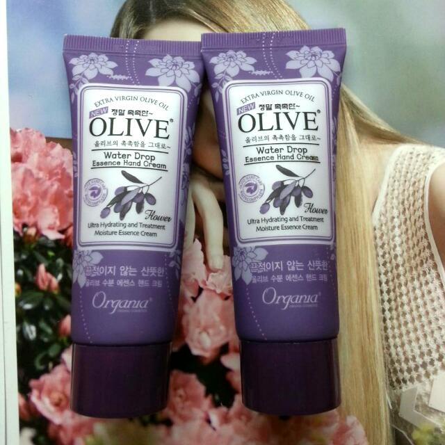 (全新)韓國White Cospharm OLIVE 橄欖保濕護手霜(紫) 50g