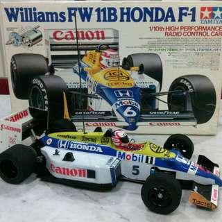 Tamiya F1 Wiliams FW11B 1/10 RC Super Rare Vintage 1987