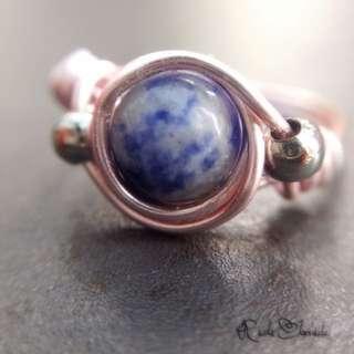 Sodalite Eclipse Ring